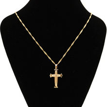 Ожерелье с подвеской крестом Иисуса золотое ожерелье подвески