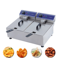 Commercial chicken french fries chips deep fryer basket electric deep frying machine potato chips frying pan kitchen equipment