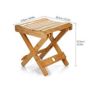Image 5 - Natuurlijke Bamboe Draagbare Klapstoel Vissen BBQ Vouwen Kruk Inklapbare Stoel Camping Klapstoel Outdoor Wandelen Seat