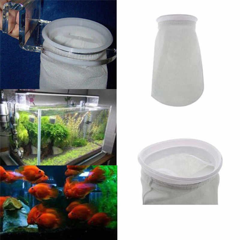 Горячее предложение 200 микрон 4 дюйма рыбы подводный, для аквариума отстойный фильтр предварительно фильтр Сумка-носок фильтр фильтры аквариума аксессуары