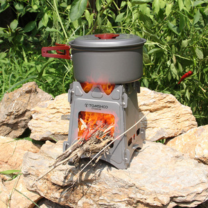 Image 5 - TOMSHOO Titanium Camping Wood Stove Portable Outdoor Folding Wood Stove Burning for Backpacking Survival Cooking Picnic Hunting