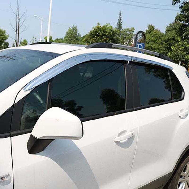 Nouveau 1 Set Chrome déflecteurs latéraux pare-soleil pare-soleil pare-soleil pour Chevrolet Trax 2014-2018