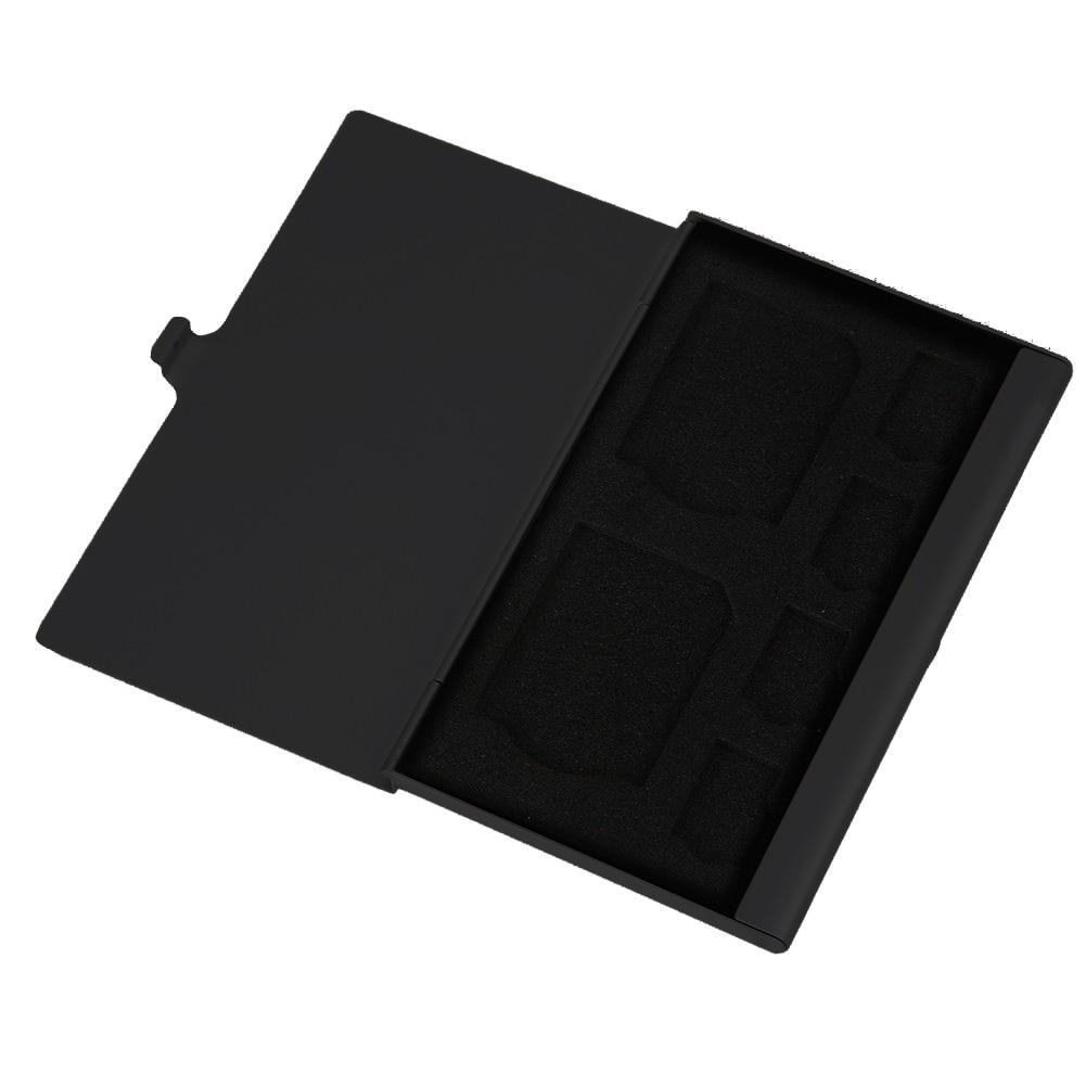 Portable Aluminum Alloy SD TF Memory Card Case Storage Box Holder Protector