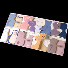 Creative Cartoon Animals Small Greeting Cards Holiday Season Happy Birthday Party Gift Message Card with Envelopes EH004(China)