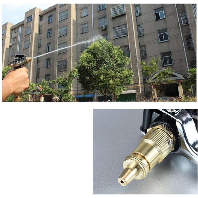 Image 4 - Hot Metal Hose Nozzle High Pressure Garden Auto Car Washing Water Gun Sprayer Adjustable Copper Hose Spray Nozzle Gun Wholesale-in Sponges, Cloths & Brushes from Automobiles & Motorcycles