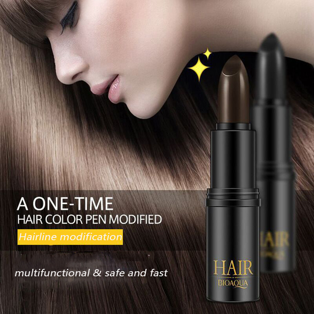 BIOAQUA שיער לצבוע מיידי אפור שורש כיסוי שיער צבע לשנות קרם מקל זמני לחפות לבן שיער צבע לצבוע TSLM1