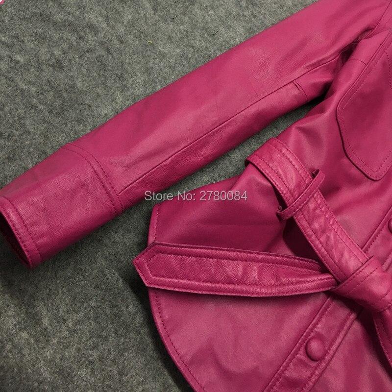 14389e33b6eac2 Peau Pour Vêtements Casual En Manteau fuchsia GuSeemio Cuir Noir ...
