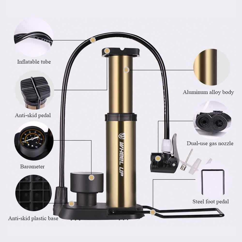 TOOP 160 Psi MTB насос для накачивания шин высокого давления напольный велосипедный насос с манометром велосипедная шина насос велосипедные аксессуары