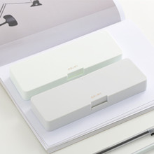 Japan Simple Style Silicone Scrub Pencil Case Office Student Large Capacity School Supplies Storage Box Learning Stationery muji style simple transparent pencil case flamingo cactus pencil box plastic storage box learning stationery office supplies