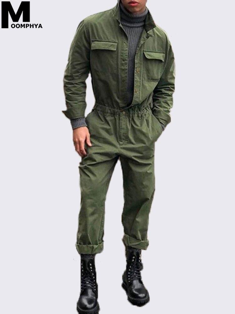 Мужской комбинезон с длинным рукавом Moomphya, уличная одежда, верхняя одежда для мужчин, 2019|Спортивные костюмы|   | АлиЭкспресс