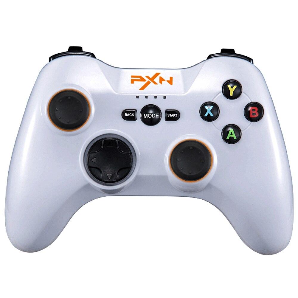 Pxn 9613 contrôleur de jeu sans fil Bluetooth support de poignée Portable manette pour Pc tablette Android Smartphone Tv Box (blanc)