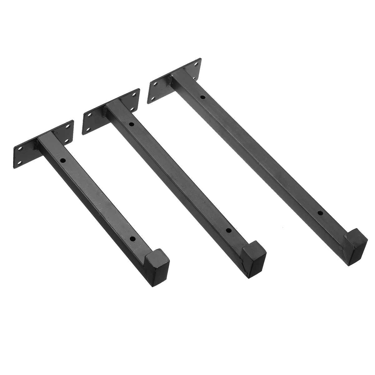 2 Pcs Wall Mounted Rak Bracket Industri Tugas Berat Besi Perancah Papan Apung Bracket untuk Furniture 20 Cm/25 CM/30 Cm