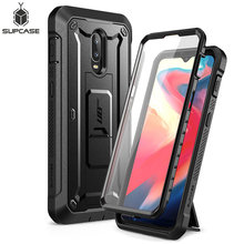 For One Plus 6T Case SUPCASE UB Pro Heavy Duty Full-Body Rugged Holster Peotective Case with Built-in Screen Protector&Kickstand supcase for iphone 11 pro max case 6 5 inch ub pro full body rugged holster cover with built in screen protector
