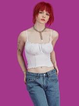 купить Womens Tank Top Casual Solid Bralette Bustier Crop Top Bra Lace Vest Slim Camisole по цене 280.72 рублей