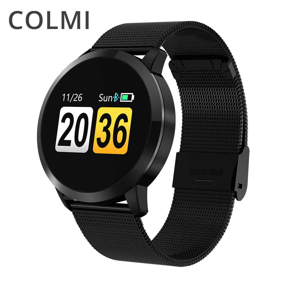COLMI אוהבי חכם להקת קצב לב צג לחץ דם IP67 עמיד למים פעילות כושר Tracker נשים גברים A1 חכם צמיד
