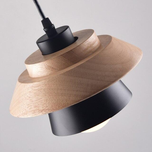 Small wood pendant lights bar kitchen cafe Nordic Dining-room Restaurant suspension lighting LED Lamp AC110V/220V E27