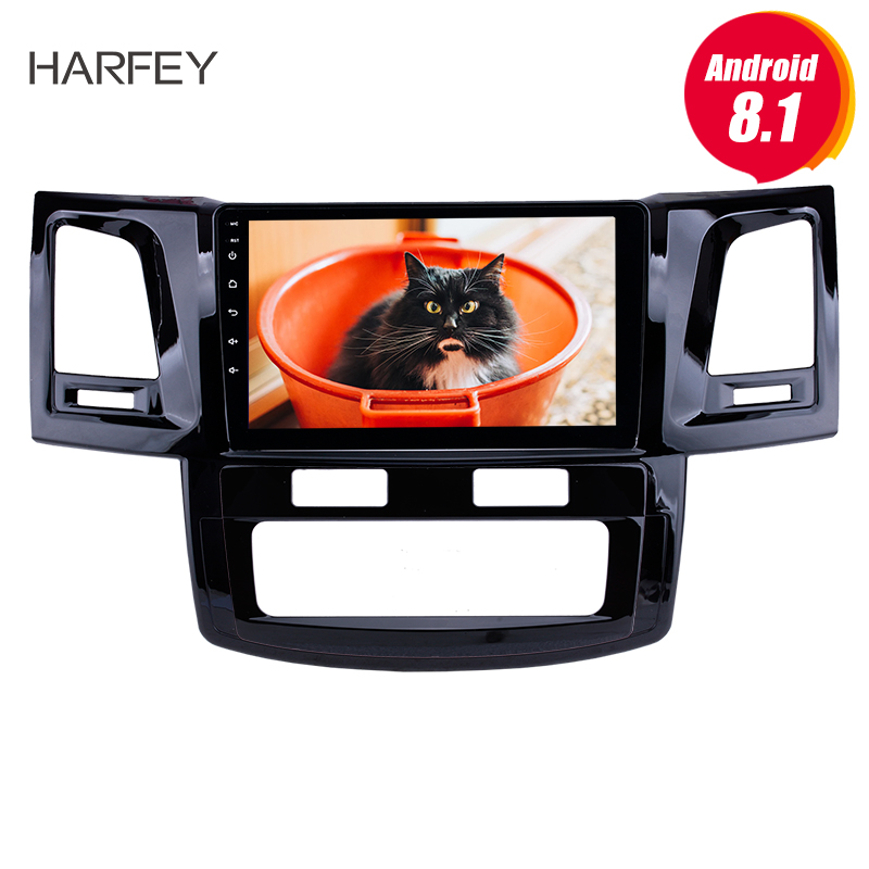 Harfey Android 8.1 9HD Radio GPS Navi Head unit for 2008 2014 Toyota Fortuner Hilux WIFI Bluetooth USB support DVR SWC 3G OBD2
