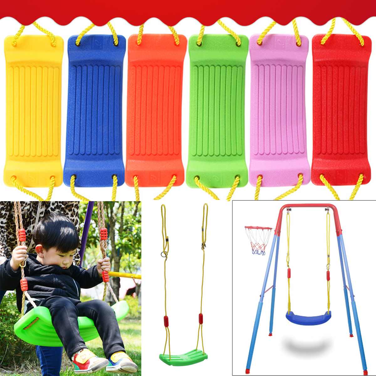 Baby Kids Children Toy Indoor Outdoor Garden Swing Seat U Type Adjustable Rope Plastic Candy Color 37x17cm Indoor SportBaby Kids Children Toy Indoor Outdoor Garden Swing Seat U Type Adjustable Rope Plastic Candy Color 37x17cm Indoor Sport