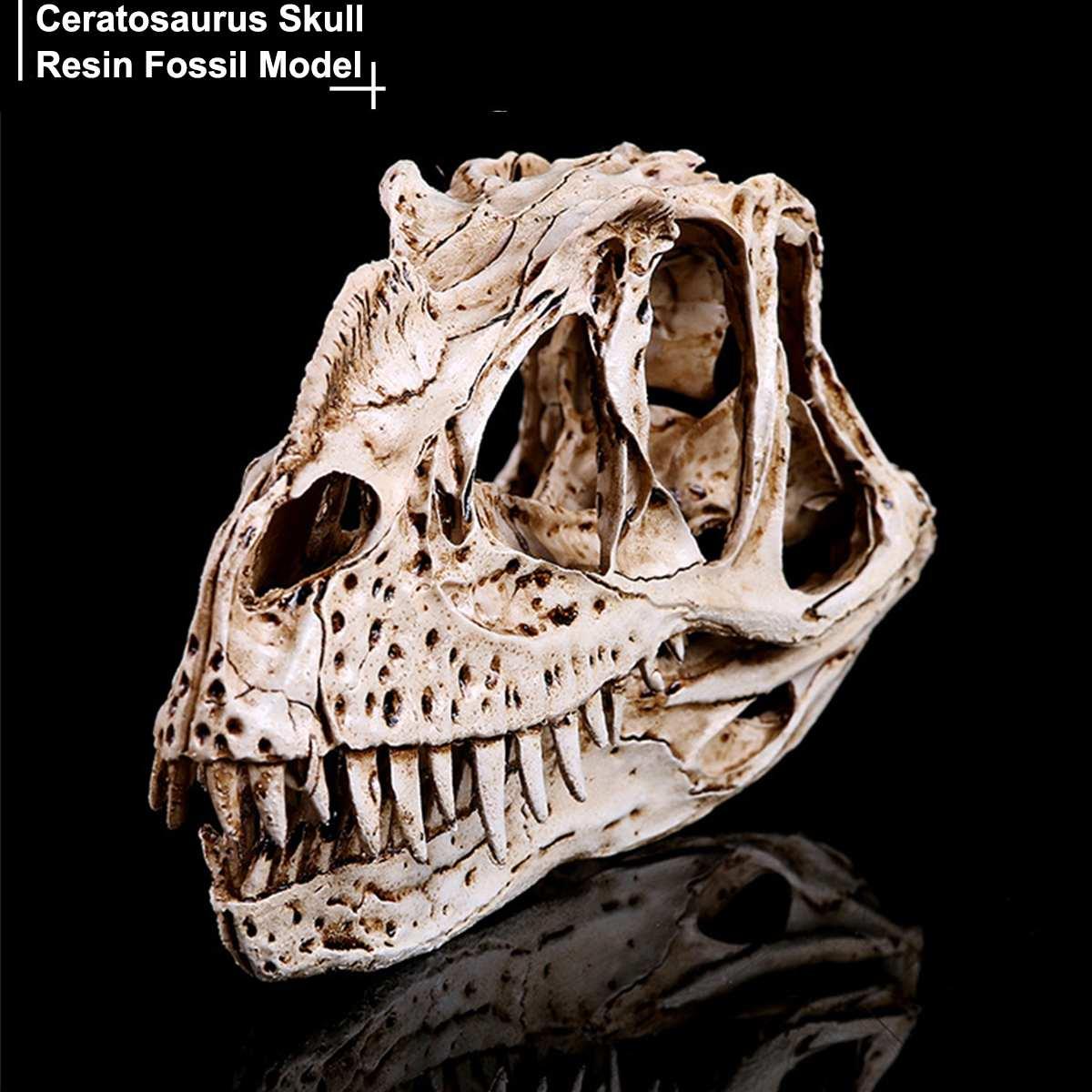 DIY Ceratosaurus изделия из смолы динозавр зуб череп обучающий скелет модель Хэллоуин домашнее офисное украшение для вечеринки 3x7x17.5cm