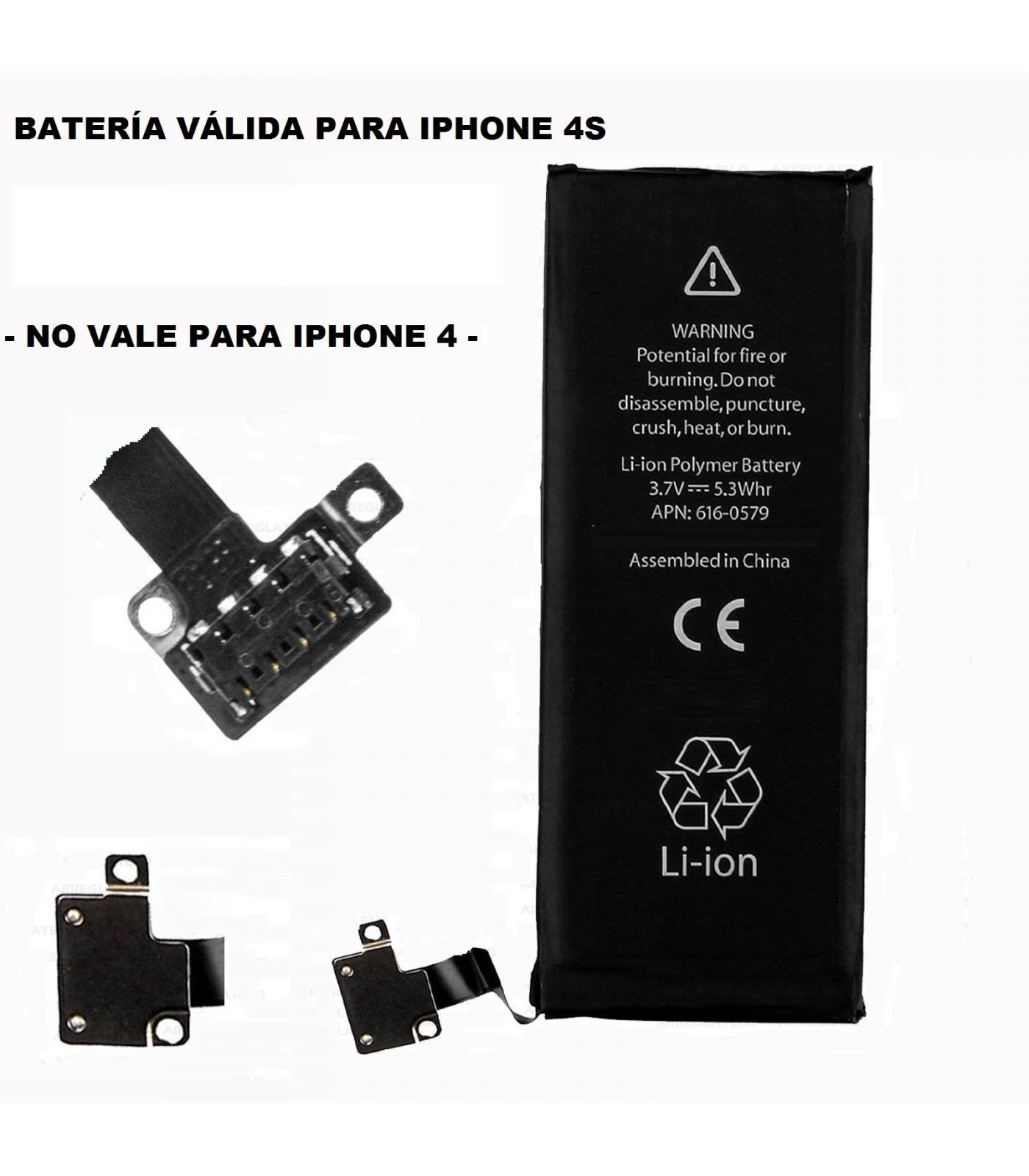 Repuesto de bateria interna / recambio compatible con Apple iphone 4S 4GS 1430 mah