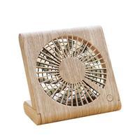 Usb 5V 4.5W Wood Grain Ultra Thin Foldable Fan For Notebook Household Appliances