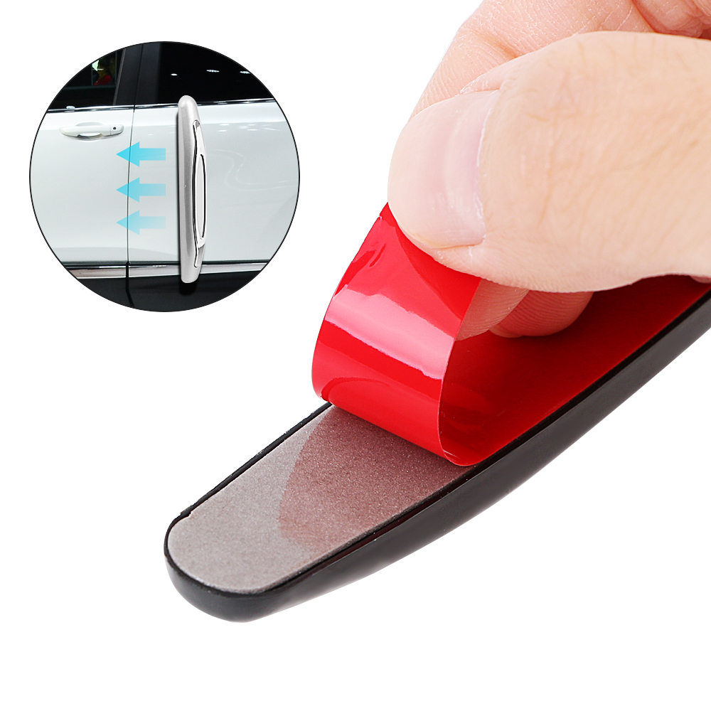 Image 4 - 4 Pieces/pack Car Anti Collision Strip Car Door Guard Protector Door Edge Trim Guard Styling Moulding Anti Scratch Sticker-in Styling Mouldings from Automobiles & Motorcycles