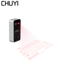 CHUYI Laser Bluetooth Wireless Virtual Keyboard Mini Portable Projection Keyboard With Mouse Function For Tablet Laptop Phone 2016 cool bluetooth laser projection virtual keyboard for smart phone pc table promotion