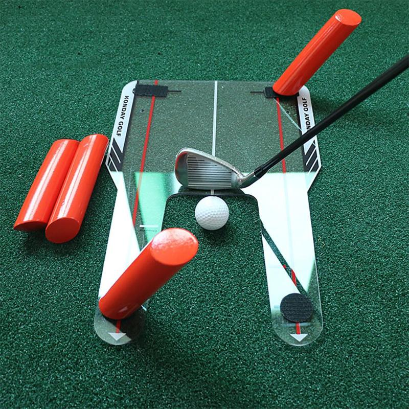 Golf Alignment swing Trainer Aid Swing Training Speed Trap Practice Base 4 Speed putter mirror Shatterproof Golf Accessories