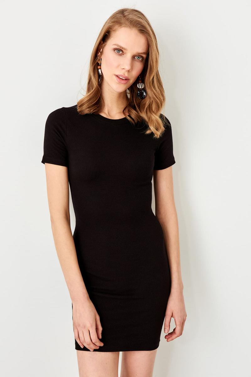 Trendyol Black Mini Knit Dress TWOSS19AD0053