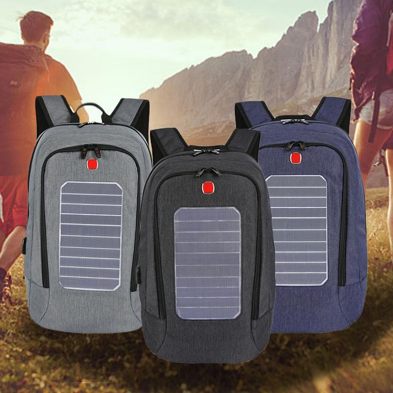 Solaire sac à dos rechargeable Épaules En Plein Air Voyage Multifonctionnel Sac À Dos