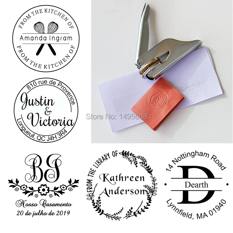Custom Embosser Stamp ,Free-shipping Notary Pocket Embosser SeaL Stamp , Library Stamp,book Embosser, Hand-held Embosser