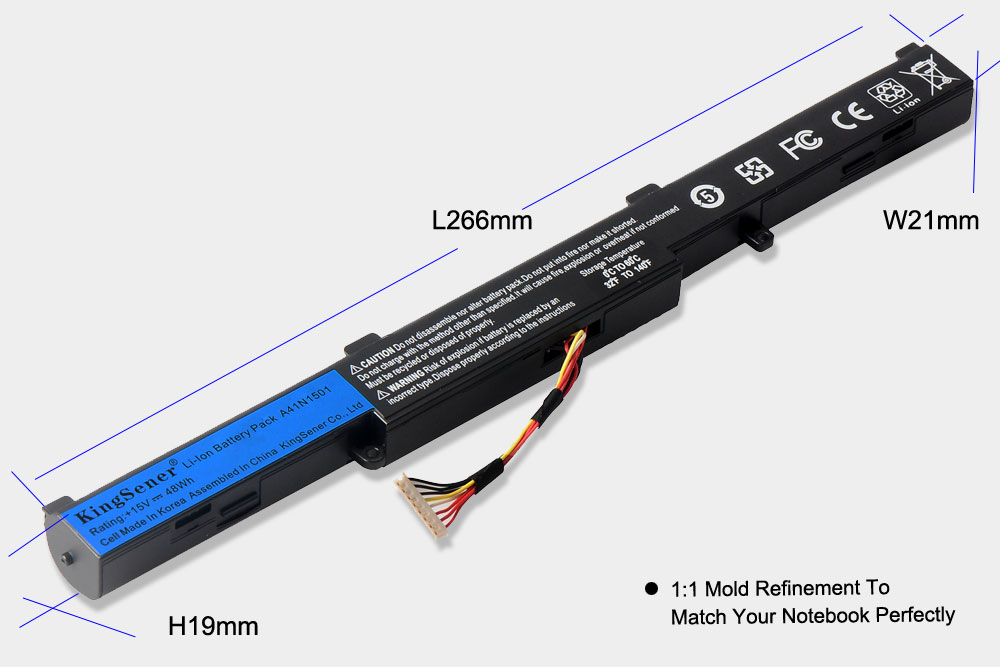KingSener Corea celular A41N1501 batería del ordenador portátil para ASUS GL752JW GL752 GL752VL GL752VW N552 N552V N552VW N752 N752V N752VW serie - 4
