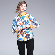 2019 Spring Womens Tops And Blouses Plus Size Long Sleeve Shirt High Quality Designer Runway Top Vintage Blouse Camisa feminina