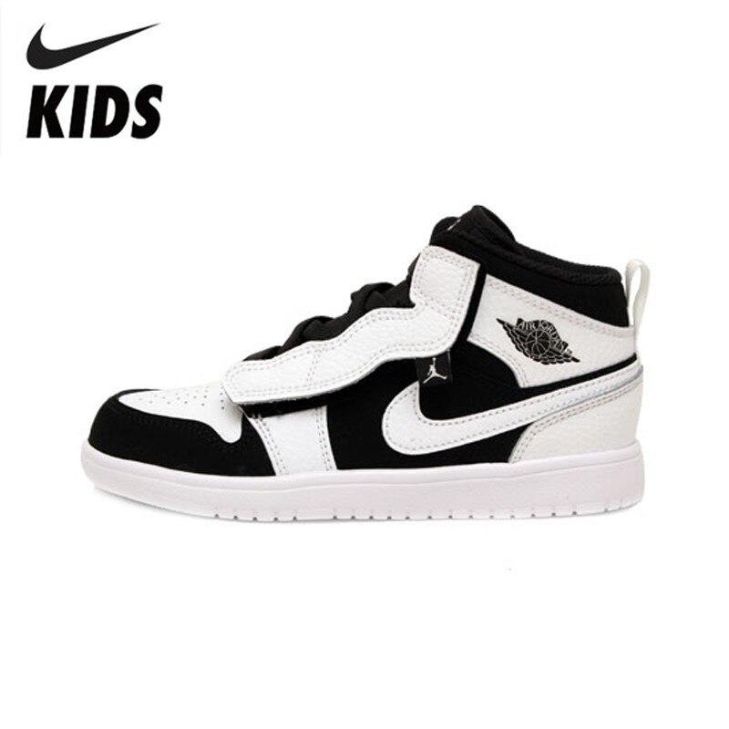Nike новый шаблон AJ черный и белый Детские кроссовки удобные модные детские кроссовки # AR6351 113