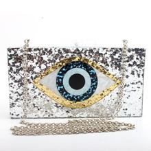Silver Acrylic Clutch Shoulder Chain Bag Glitter Purse Hand Crossbody  Messenger Bags Handbags For Women Ladies · 3 Colors Available 31fb5296b272