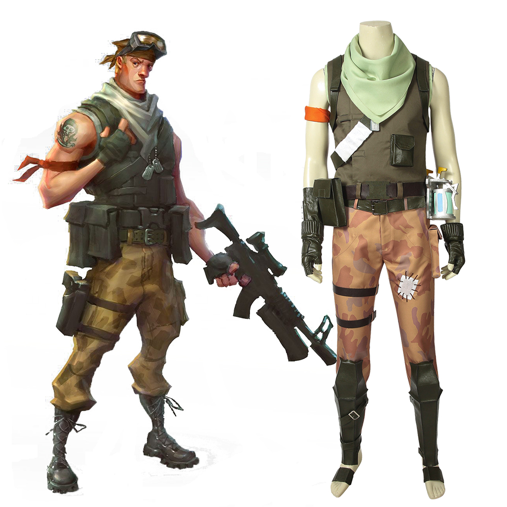 Fortress Battle Royale Jonesy Cosplay Costume Men's Full Suit Outfit