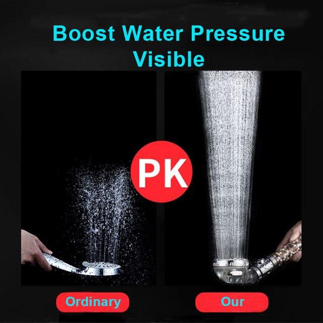 Zhang Ji nouveau remplacement filtre balles économie d'eau SPA pomme de douche avec bouton d'arrêt 3 Modes réglable haute pression pomme de douche 3