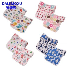 DALEMOXU Baby Bibs Double Side Different Patterns Cotton Bandana Bib Saliva Towel Breastplate For Newborns Feeding 58*25cm