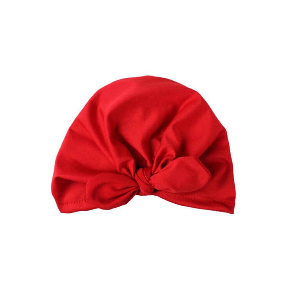 2019 ยี่ห้อใหม่ทารกแรกเกิดเด็กวัยหัดเดินเด็กทารกเด็กทารกเด็ก Turban Cotton Bowknot ลูกอมสีหมวกหมวก Beanie หมวกโรงพยาบาลฤดูหนาวหมวก
