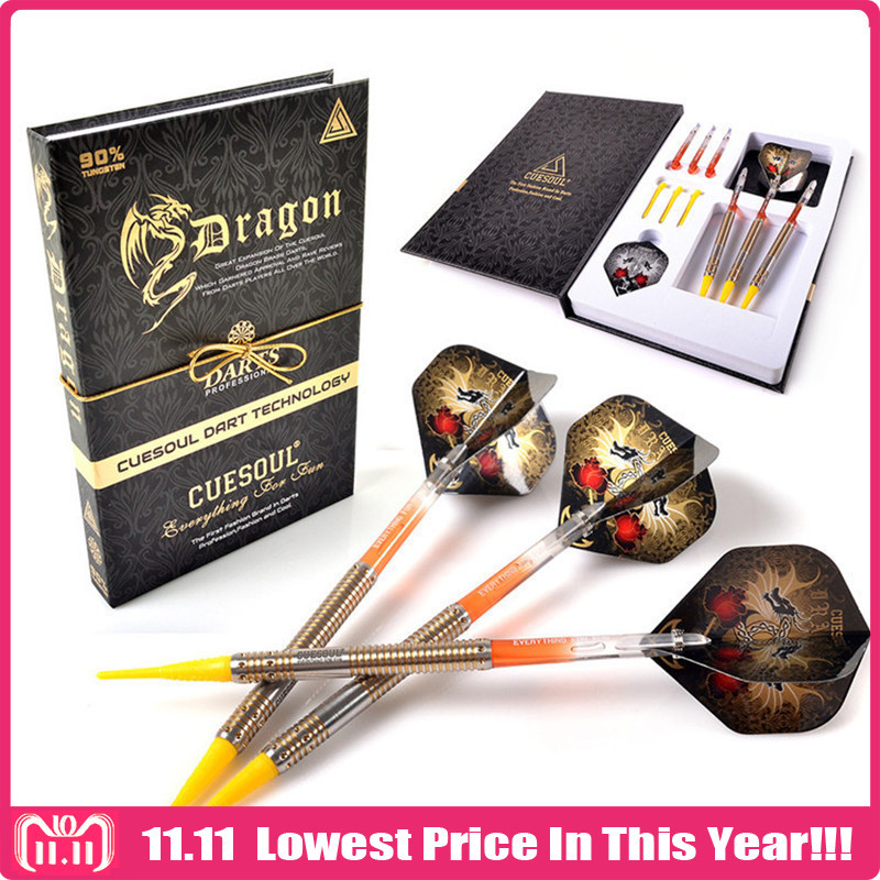 3PCS CUESOUL Professional Electronic Soft Tip Darts 20g 14.5cm With 90% Tungsten Dart Barrel new cuesoul 90
