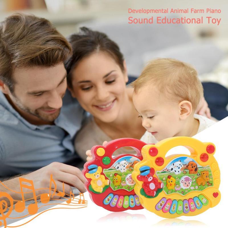 1 Pc Baby-musical Spielzeug Pädagogisches Animal Farm Piano Entwicklung Musical Spielzeug Mit Tier Sound Niedlichen Mini-sounding Spielzeug Neue
