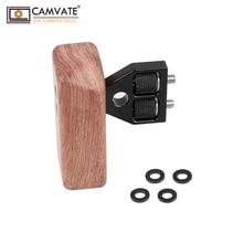 Agarre de mango de madera CAMVATE DSLR (mango izquierdo) para DV Video Cage Rig Camara accesorios de fotografía C1242