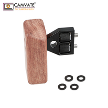 CAMVATE DSLR Wooden Handle Grip (Left Handle) For DV Video Cage Rig Camara Fotografia Accessories C1242