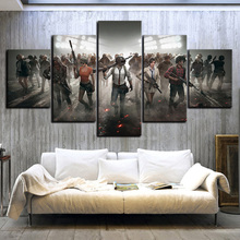 Купить с кэшбэком 5 Piece Pubg Stimulate The Battlefield Video Game Poster Wall Pictures for Home Decor Poster Artwork Wall Decor Canvas Wholesale