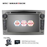 2 Din Android 8.1.0 OS Car DVD Player Autoradio GPS Navigation for Opel ZAFIRA Astra H G J Antara VECTRA Vauxhall with CAN BUS