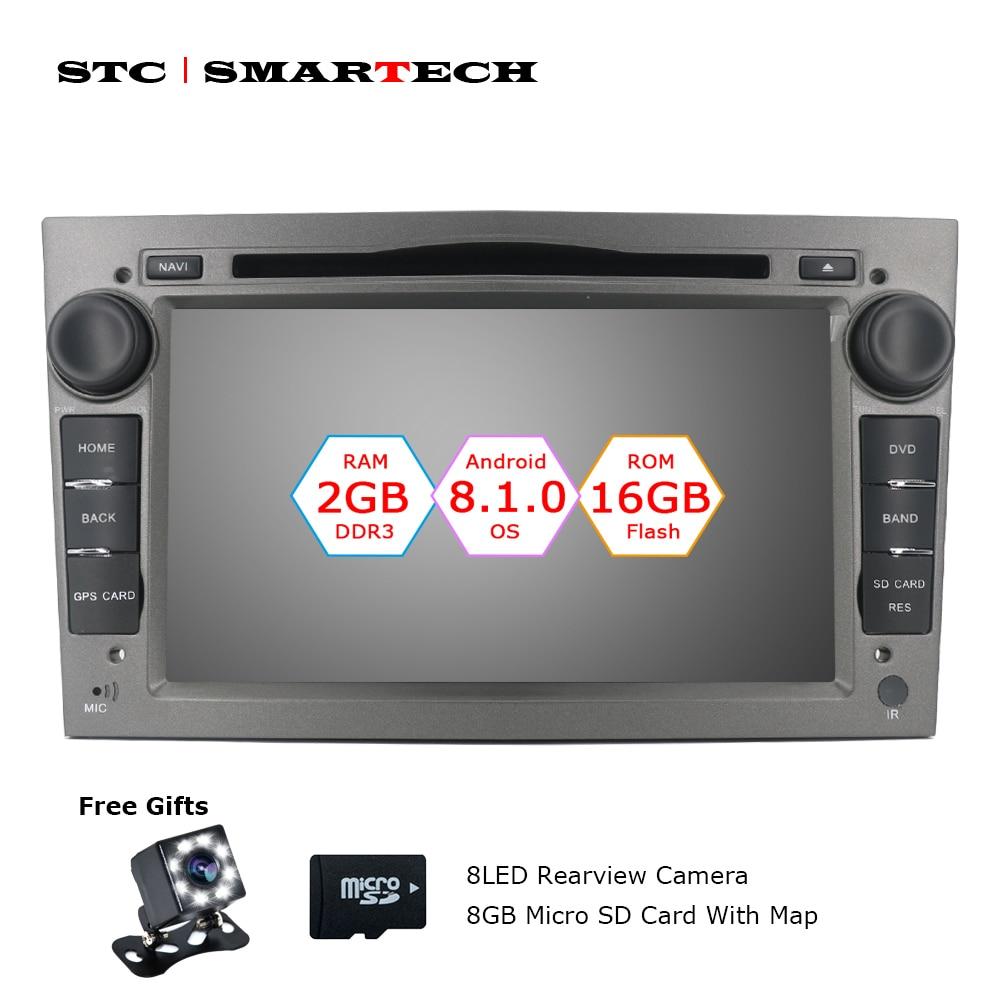 2 Din Android 8.1.0 OS Car DVD Player Autoradio GPS di Navigazione per Opel ZAFIRA Astra H G J Antara VECTRA vauxhall con CAN-BUS