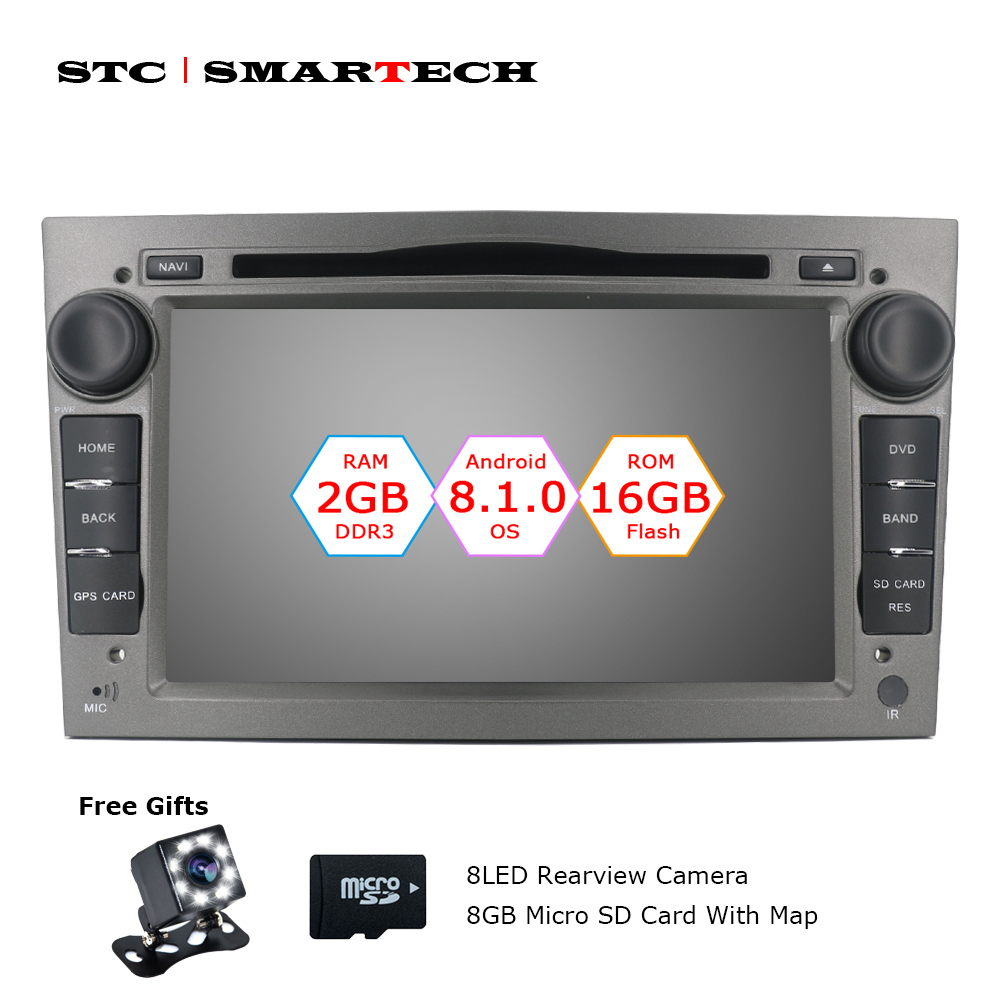 2 Din Android 8.1.0 OS Voiture Lecteur DVD Autoradio GPS Navigation pour Opel ZAFIRA Astra H G J Antara VECTRA vauxhall avec CAN-BUS