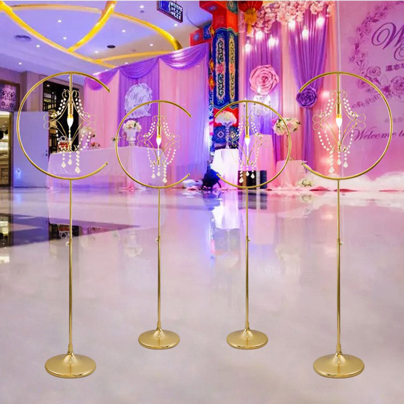 Event & Party Efficient 10pcs Wedding Centerpiece Candle Holders Flower Vase Floor Vases/lamps Metal Road Lead Flower Stand/rack For Wedding Decoration High Quality Party Diy Decorations