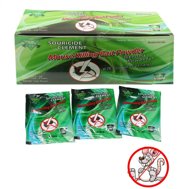 50PCS/lot Mouse Poison Killing Bait Pest Control Rat Mice Killer Insecticide Pest Reject Rat Repeller Killer Trap