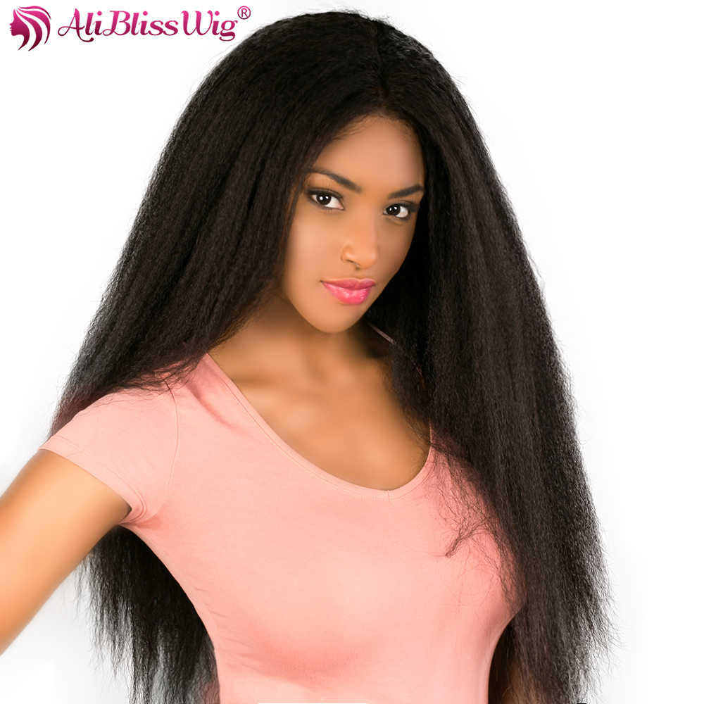 13X6 Lace Front Wigs Kinky Straight Lace Front Human Hair Wigs For Black Women Brazilian Remy Hair Wig Full End Ali Bliss Wig